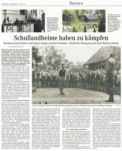 Artikel im Weser Kurier erschienen am 30.03.2010