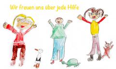 Kinder freuen sich über ihre Spenden